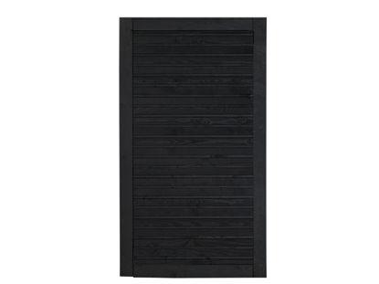 Plus Plank Gartentüre Fichte schwarz 100 x 163 cm