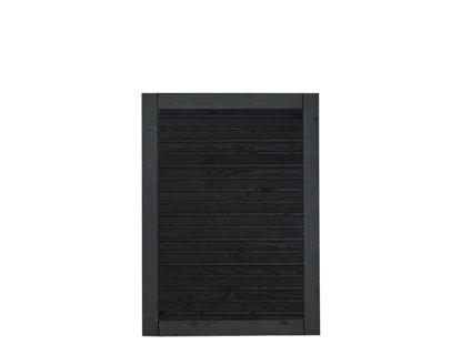 Plus Plank Gartentüre Fichte schwarz 100 x 125 cm