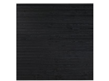 Plus Plank Profilzaun Fichte schwarz 174 x 166 cm