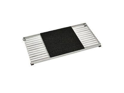 Plus Cubic Gitterrost 40 x 80 cm mit Kunststoffmatte schwarz