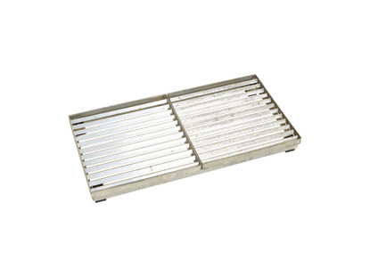 Plus Cubic Rost mit höhenverstellbarem Stahlrahmen 40 x 80 x 6,8 cm