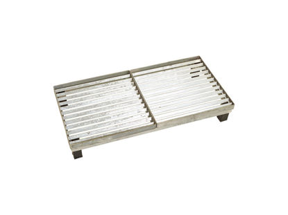 Plus Cubic Rost mit höhenverstellbarem Stahlrahmen 40 x 80 x 12,3 cm