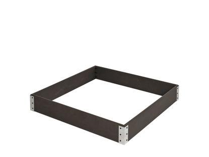 Plus WPC Beet- oder Sandkasten mit Stahlecken 120 x 120 x 18 cm anthrazit
