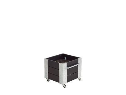 Plus Cubic rollender Blumenkasten 46 x 50 x 45 cm schwarz