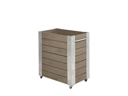Plus Cubic rollender Blumenkasten 87 x 50 x 95 cm graubraun