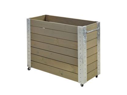 Plus Cubic rollender Blumenkasten 120 x 50 x 95 cm graubraun