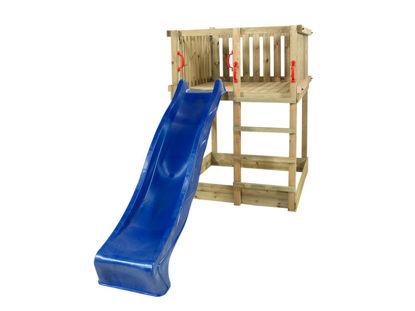 Plus Play Spielturm mit blauer Rutsche 350 x 132 x 200 cm