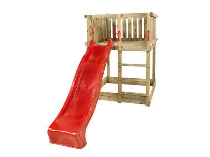 Plus Play Spielturm mit roter Rutsche 350 x 132 x 200 cm