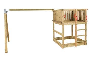 Plus Play Spielturm mit Schaukelbalken 460 x 395 x 200 cm