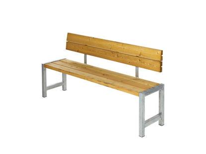 Plus Plankenbank mit Rückenlehne 176 cm Lärche