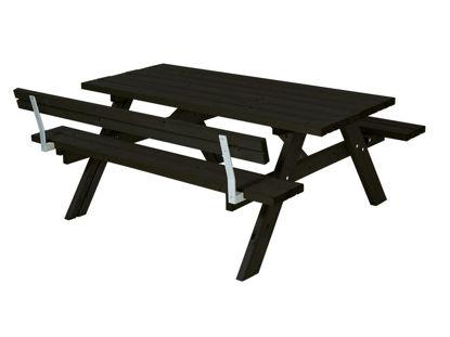 Plus Kombimöbel mit Klappsitzen mit 1 Rückenlehne Kiefer-Fichte schwarz 177 cm