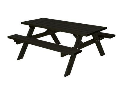 Plus Kombimöbel mit Klappsitzen Kiefer-Fichte schwarz 177 cm