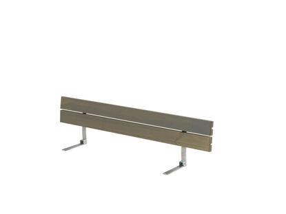 Plus Rückenlehne Kiefer-Fichte graubraun für Plankenbank mit Beschlag 166 cm