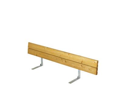 Plus Rückenlehne Lärche unbehandelt für Plankenbank mit Beschlag 166 cm