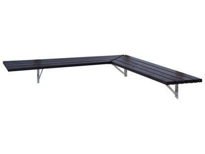 Plus Eckbank - Regal 207 cm schwarz