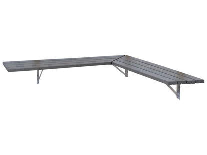 Plus Eckbank - Regal 207 cm graubraun