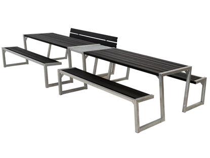 Plus Zigma Kombimöbel mit Verbindungsmodul Kiefer-Fichte schwarz 392 cm