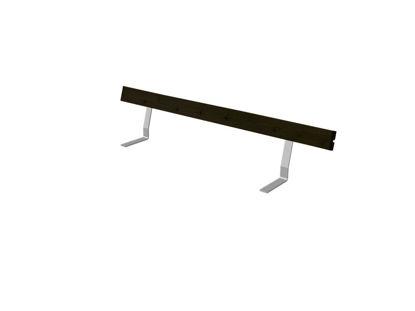 Plus Rückenlehne Kiefer-Fichte schwarz 207 cm für Royal Bank