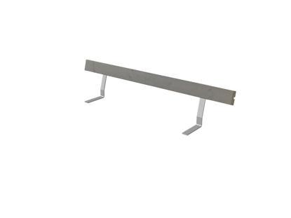 Plus Rückenlehne Kiefer-Fichte graubraun 207 cm für Royal Bank