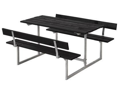 Plus Basic Kinderkombi komplett mit 2 Rückenlehnen schwarz farbgrundiert Terrassensitzgruppe