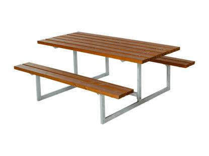 Plus Basic Kombimöbel teakfarben 177 x 160 x 73 cm Garten-Sitzgruppe