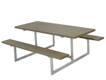 Plus Basic Kombimöbel Kiefer-Fichte graubraun 177 x 160 x 73 cm Garten-Sitzgruppe
