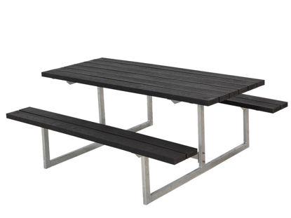 Plus Basic Kombimöbel Recycling Kunststoff schwarz 177 x 160 x 73 cm Garten-Sitzgruppe