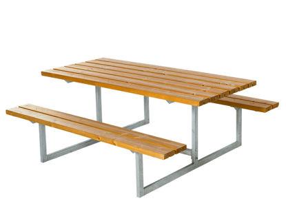 Plus Basic Kombimöbel Lärche unbehandelt 177 x 160 x 73 cm Garten-Sitzgruppe