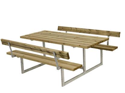 Plus Basic Kombimöbel mit 2 Rückenlehnen Kiefer-Fichte druckimprägniert 177 x 184 cm