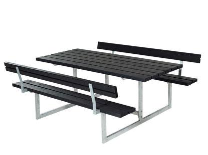 Plus Basic Kombimöbel mit 2 Rückenlehnen Kiefer-Fichte schwarz 177 x 184 cm