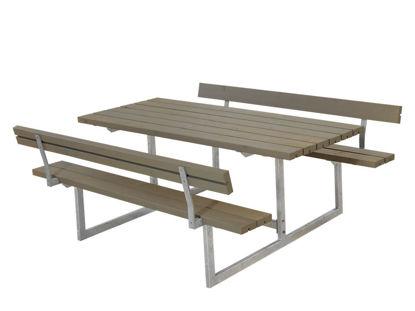 Plus Basic Kombimöbel mit 2 Rückenlehnen Kiefer-Fichte graubraun 177 x 184 cm