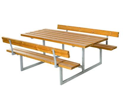Plus Basic Kombimöbel mit 2 Rückenlehnen Lärche unbehandelt 177 x 184 cm Sitzgruppe Garten und Terrasse