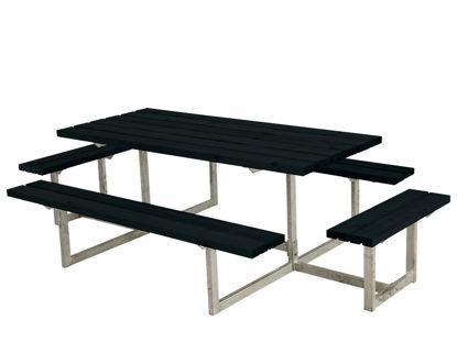 Plus Basic Sitzgruppe mit 2 Anbauten Kiefer-Fichte schwarz 260 x 160 cm