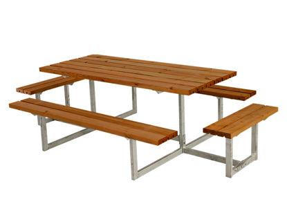 Plus Basic Kombimöbel mit 2 Ergänzungen teakfarben 160 x 160 x 73 cm