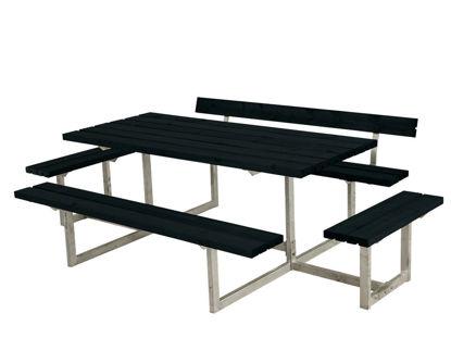 Plus Basic Sitzgruppe mit 2 Anbauten und 1 Rückenlehne Kiefer-Fichte schwarz 260 x 172 cm