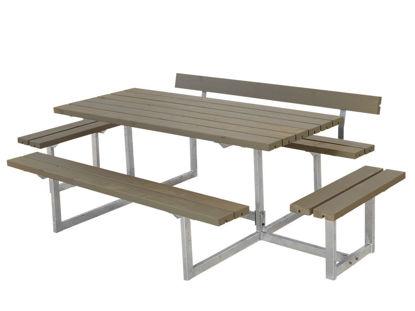 Plus Basic Sitzgruppe mit 2 Anbauten und 1 Rückenlehne Kiefer-Fichte graubraun 260 x 172 cm