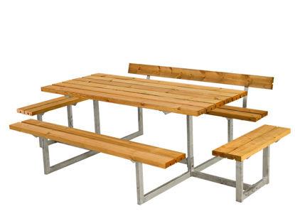 Plus Basic Sitzgruppe mit 2 Anbauten und 1 Rückenlehne Lärche unbehandelt 260 x 172 cm