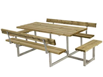 Plus Basic Kombimöbel mit 2 Anbausätzen und 2 Rückenlehnen Kiefer-Fichte druckimprägniert 260 x184 cm