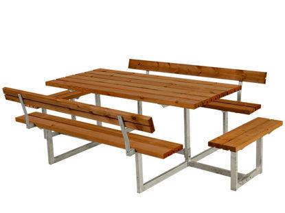 Plus Basic Kombimöbel mit 2 Rückenlehnen + 2 Ergänzungen teakfarben 260 x 184 x 73 cm