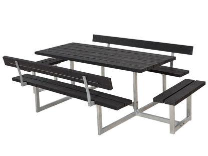 Plus Basic Kombimöbel mit 2 Anbausätzen und 2 Rückenlehnen Recycling Kunststoff schwarz 260 x184 cm