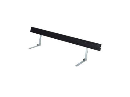Plus Rückenlehne Kiefer-Fichte schwarz für Plankenbank mit Beschlag 177 cm