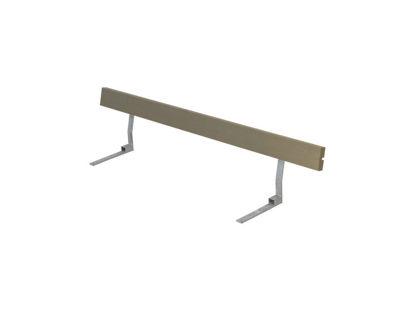 Plus Rückenlehne Kiefer-Fichte graubraun für Plankenbank mit Beschlag 177 cm