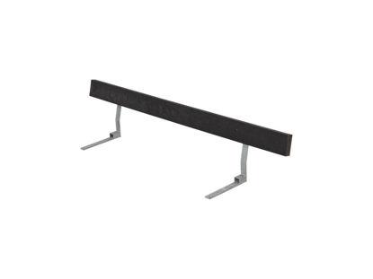 Plus Rückenlehne Recycling Kunststoff schwarz für Plankenbank mit Beschlag 177 cm