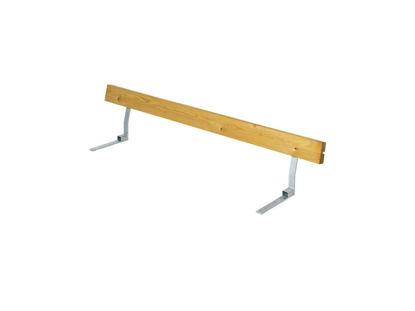 Plus Rückenlehne Lärche unbehandelt für Plankenbank mit Beschlag 177 cm