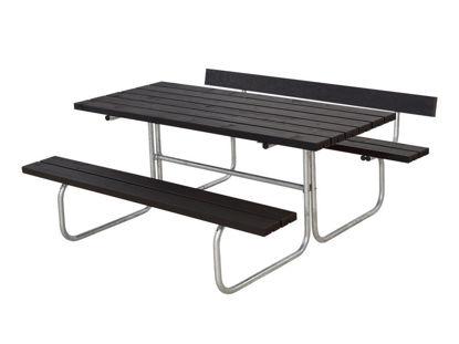 Plus Classic Kombimöbel mit 1 Rückenlehne Kiefer-Fichte schwarz 177 x 166 cm