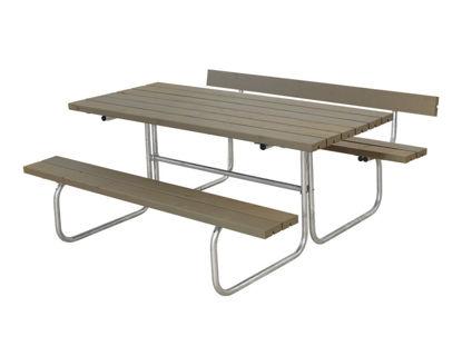 Plus Classic Kombimöbel mit 1 Rückenlehne Kiefer-Fichte graubraun 177 x 166 cm