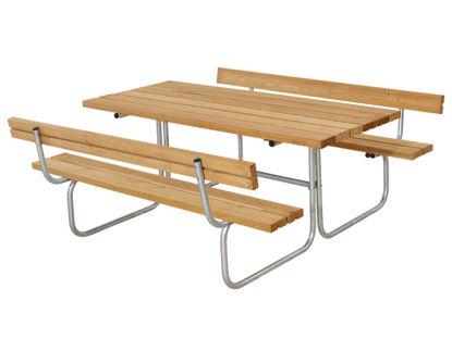 Plus Classic Kombimöbel mit 2 Rückenlehnen Kiefer-Fichte Lärche unbehandelt 177 x 177 cm