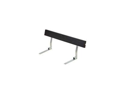 Plus Rückenlehne Kiefer-Fichte schwarz für Plankenbank mit Beschlag 118 cm
