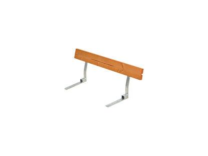 Plus Rückenlehne Kiefer-Fichte teakfarben für Plankenbank mit Beschlag 118 cm
