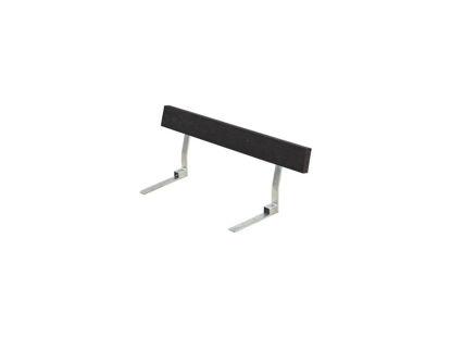 Plus Rückenlehne Recycling Kunststoff schwarz für Plankenbank mit Beschlag 118 cm